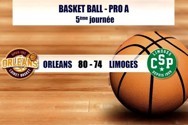 Orléans bat Limoges 80 à 74