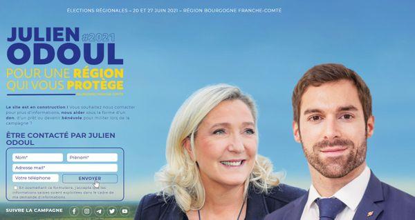 Capture d'écran du site internet de Julien Odoul le 17 mai 2021