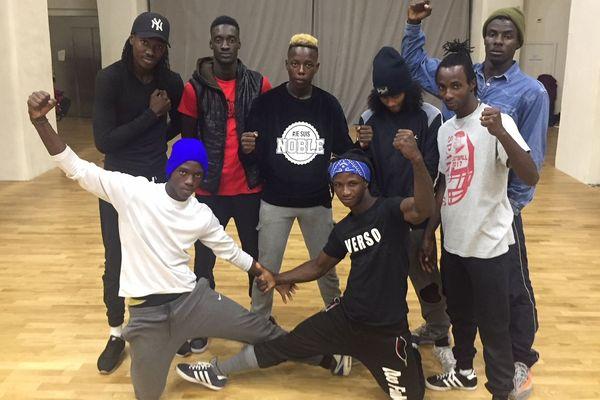 Les champions de Hip Hop du Sénégal, Power Crew, lors d'un atelier à l'Agora de Montpellier - 12 novembre 2018