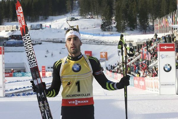 Le Catalan Martin Fourcade après sa belle victoire sur le 20km d'Oslo - 12 février 2015
