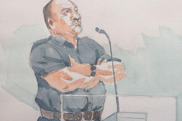 Philippe Gillet, à la cour d'assises des Ardennes, mars 2019