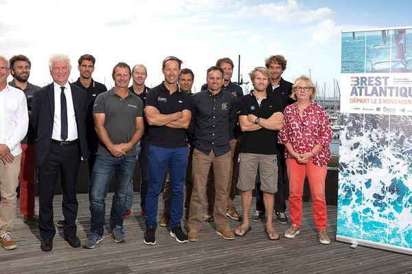 Les principaux organisateurs et participants de la course d'Ultims qui s'élancera le 3 novembre 2019