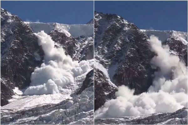L'avalanche s'est déclenchée sous le col du Midi, dans le massif du Mont-Blanc.