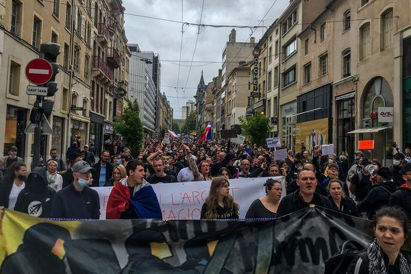 Manifestation du samedi 7 août 2021 à Nancy, en opposition à l'extension de l'application du pass sanitaire.