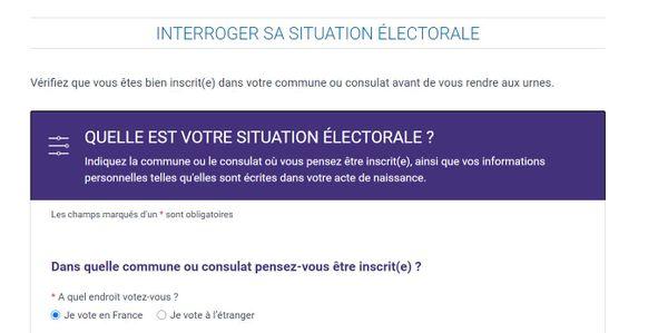 Vérifiez que vous êtes bien inscrit(e) dans votre commune ou consulat avant de vous rendre aux urnes ! Sur le site : service-public.fr