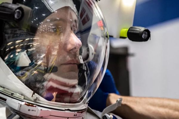 Le Français Thomas Pesquet, astronaute de l'Agence spatiale européenne, lors d'un entraînement, à Houston (Texas, Etats-Unis), le 19 juin 2020.