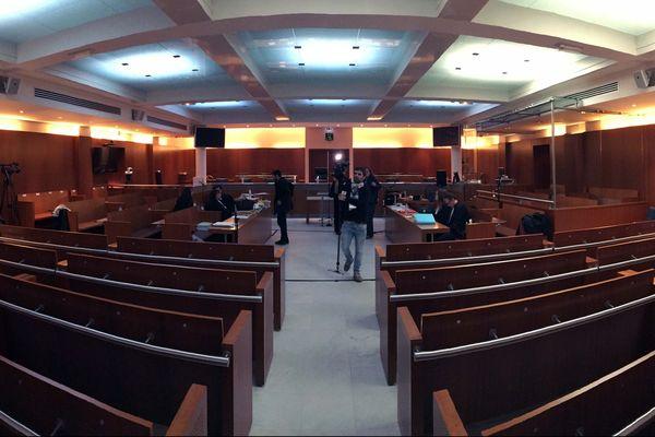 La salle d'audience de la cour d'assise de Versailles lors du procès Fourniret