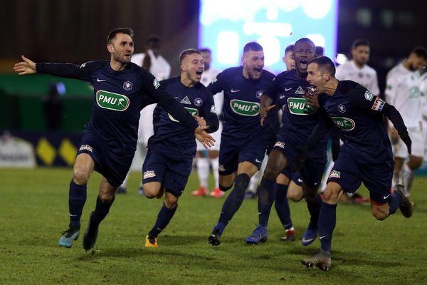 Les Belfortains (ici lors de leur qualification face à Montpellier) affrontent le Stade rennais en quart de finale de Coupe de France, ce mardi 11 février.