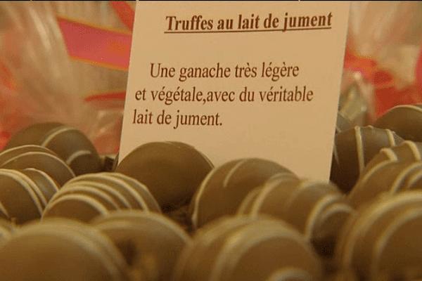 Pour l'instant, les chocolats au lait de jument sont produits en petite quantité.