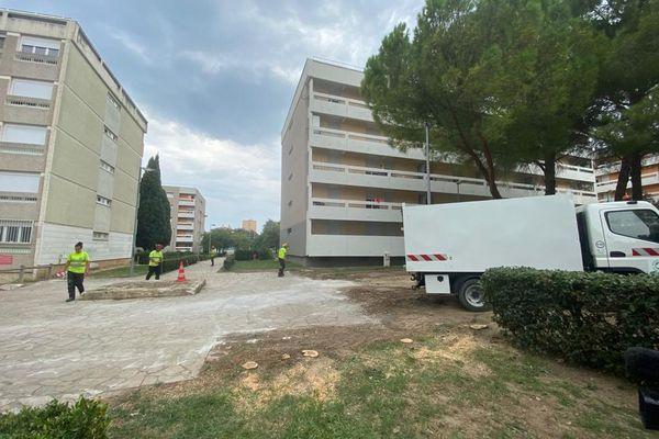 07/09/2021. C'est à cinquantaine mètres de l'école élémentaire Saint-Norbert de Salon-de-Provence, que les tirs ont eu lieu.