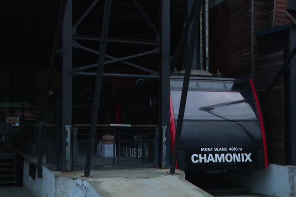 Une cabine au départ de Chamonix