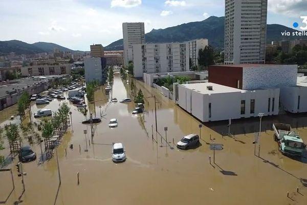 Jeudi 11 juin, le quartier des Salines d'Ajaccio a été inondé suite à de violents orages.