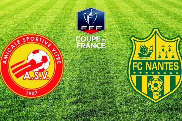 Le 1/4 de finale de la Coupe de France entre l'US Vitré et le FC Nantes se jouera le 6 mars 2019 à Laval
