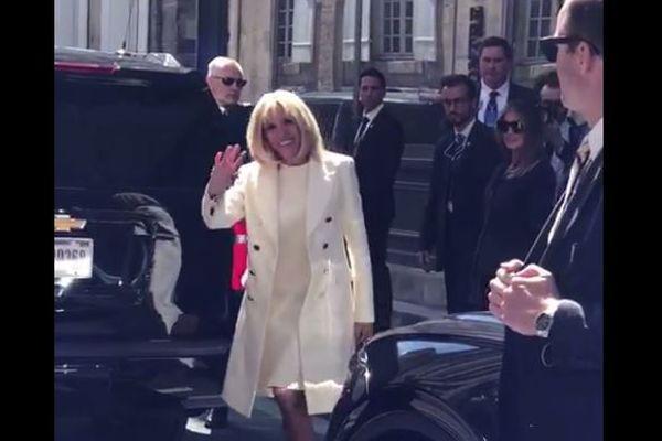Brigitte Macron et Melania Trump à Caen le 6 juin 2019