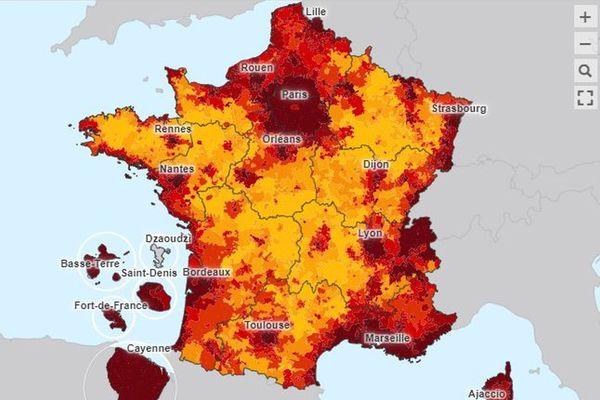La Corse dans le rouge en matière de loyers pratiqués.
