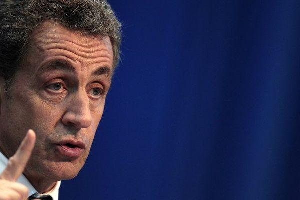 L'ancien chef de l'Etat Nicolas Sarkozy au cours d'un meeting, en novembre 2014.