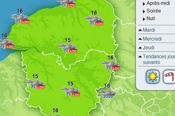 Des pluies localement orageuses sont encore prévues sur la région.
