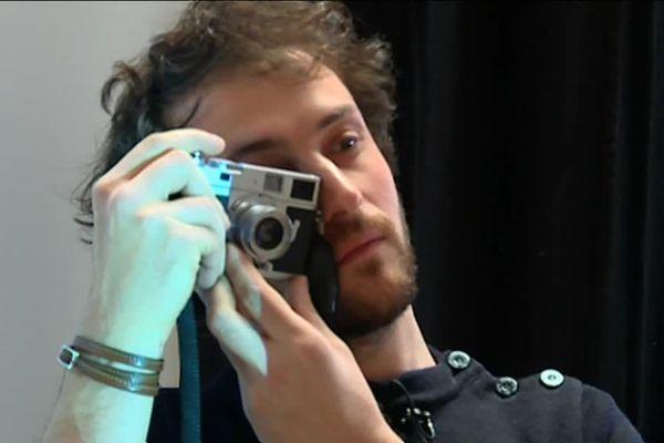 Le photoreporter Edouard Elias à Orthez lors des Rencontres photographiques 2019