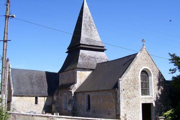 L'église de Menneval dans l'Eure.
