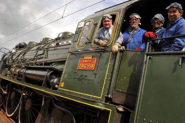 Construite à Nantes en 1922 la locomotive 231 G 558 roule toujours sur les rails de Normandie