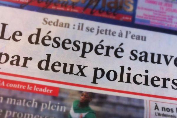 L'histoire du jour de l'Ardennais : deux policiers ont sauvé un femme qui tentait de mettre fin à ces jours.