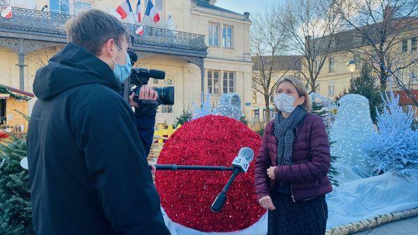 Rachel Blanc, 1ère adjointe au Maire de Saint-Dizier, interviewée par l'équipe de France 3 Champagne-Ardenne.