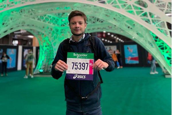 Alexandre Allain, né avec la mucoviscidose, greffé des poumons à couru le marathon de paris en 5h30 ce 17 octobre 2021