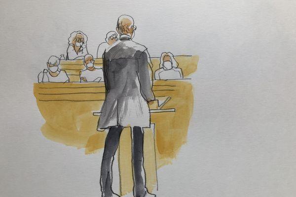 Christian Bouchon le mari de Patricia Bouchon devant la cour d'assises du Tarn. Juillet 2021.