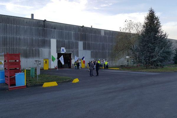 Les locaux où devaient s'implanter l'usine de traitement de l'eau sur le site de PSA, Charleville-Mézières.