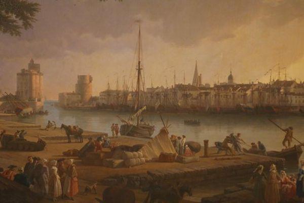 Musée du Nouveau monde/ Vue du port de La Rochelle 1782