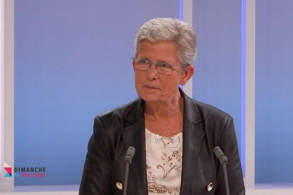 Geneviève Darrieussecq, lors de l'émission Dimanche en Politique qui sera diffusée le 4 octobre.