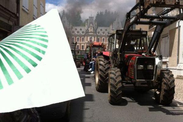 Manifestation d'agriculteurs le 21 mai 2015 à Tulle (Corrèze)