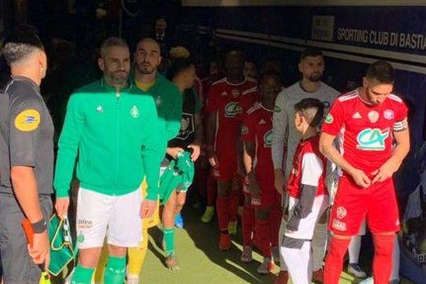 Le FC Bastia-Borgo s'est incliné en 32e de finale de la Coupe de France face à l'AS Saint-Etienne, dimanche 5 janvier, sur la pelouse du stade Armand Cesari.