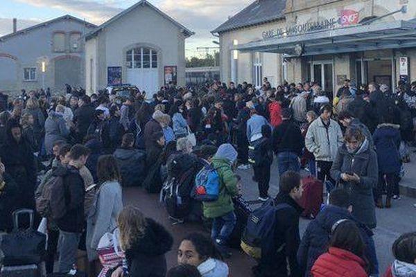 La gare de La Souterraine où 880 passagers de l'Intercité Paris-Toulouse ont été débarqués