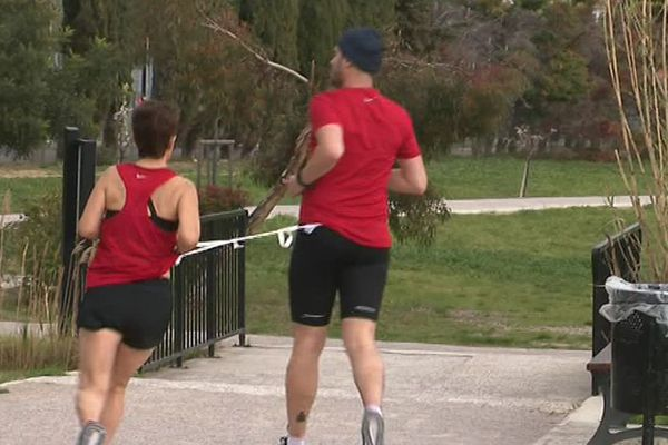 Pour le marathon de Paris, Claudine et Jérôme se sont entraînés huit mois à Perpignan.