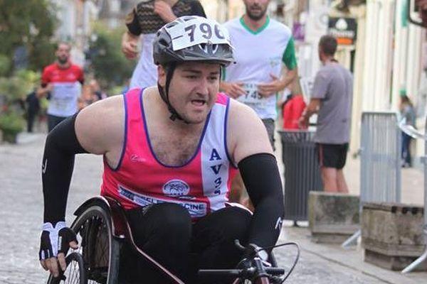 Jean-Baptiste François-Jubert au dernier marathon de Troyes en 2018