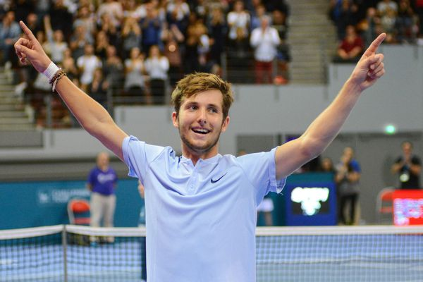 Le tennisman français Corentin Moutet, en octobre 2017, à Brest.
