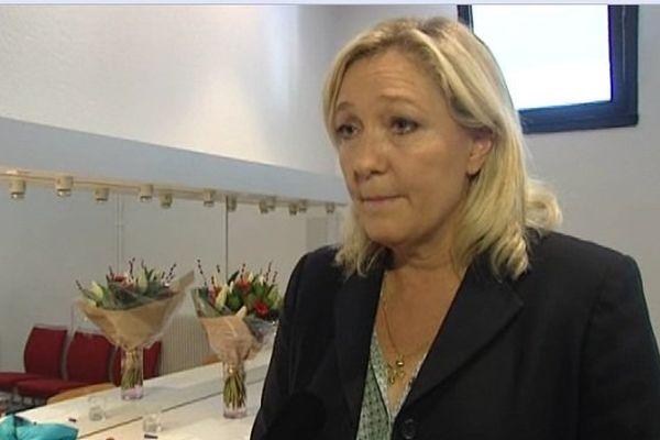 Marine Le Pen en meeting à Perpignan
