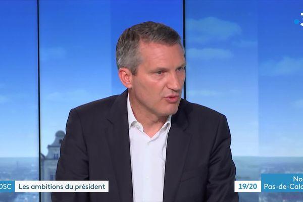 Olivier Létang, président du LOSC, venu détailler ses ambitions pour le club dans le 19/20 de France 3 Nord Pas-de-Calais