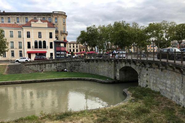 Le pont Marengo, à Carcassonne, où le corps de l'homme a été repêché.