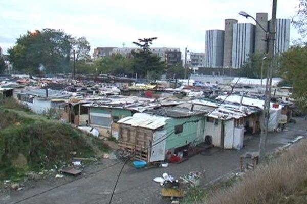 Le campement dit des « Coquetiers » un camp rom situé à Bobigny (Seine-Saint-Denis) a été évacué mardi 21 octobre