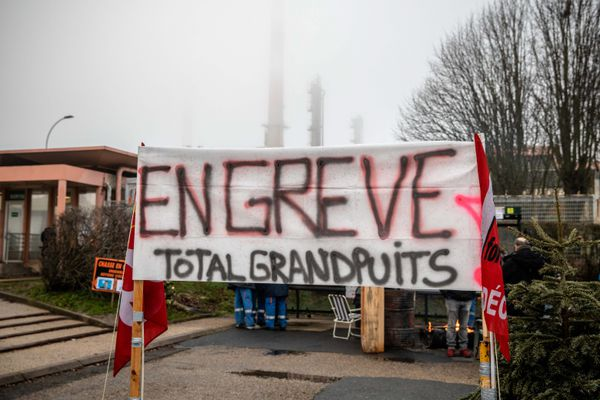 Archives/Mobilisation à la raffinerie Total de Grandpuits le 7 janvier 2020