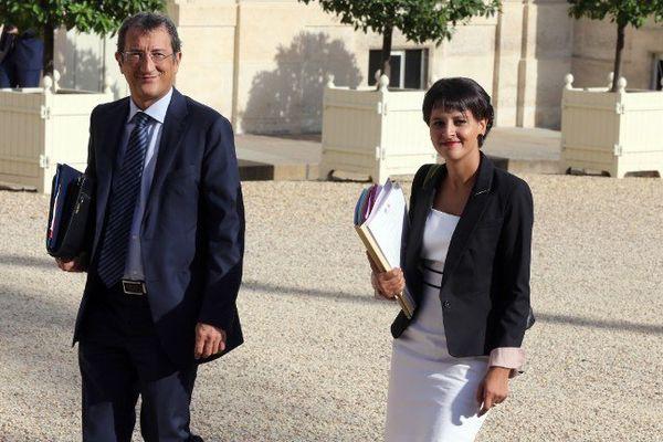 François lamy et Najat Vallaud-Belkacem