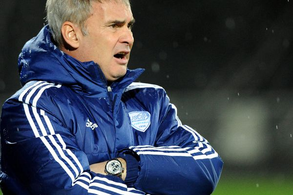 L'entraîneur de Créteil, Laurent Roussey, en janvier 2016.
