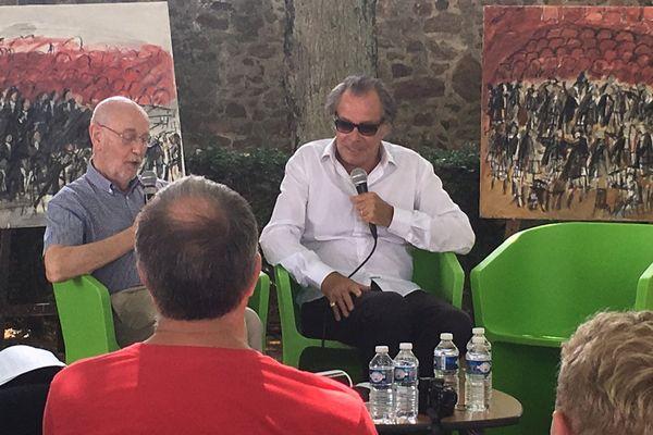 A Limoges pour la fête de la musique, 1er Salon du Livre de Musique. Michel Leeb participait à une table ronde sur le jazz avec Claude-Alain Christophe, Président du Hot Club de Limoges