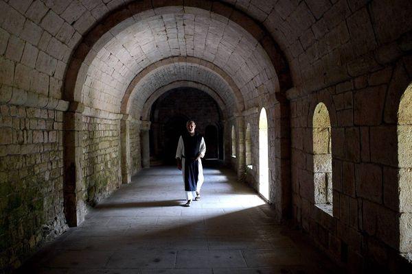 A l'intérieur du monastère. Image d'illustration.