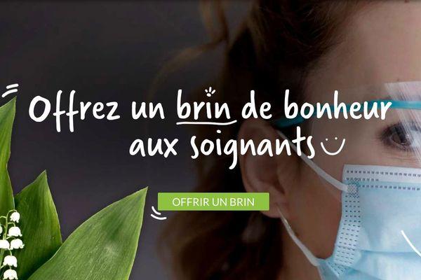 Offrir un brin de muguet aux personnels soignants et soutenir une filière de production du brin porte-bonheur, c'est l'idée d'Éric Harrouët producteur de muguet à Saint-Julien-de-Concelles en Loire-Atlantique