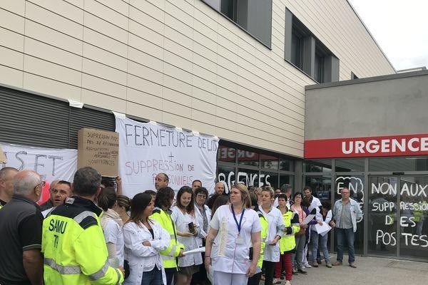 Débrayage des salariés des urgences à l'hôpital Nord Deux-Sèvres