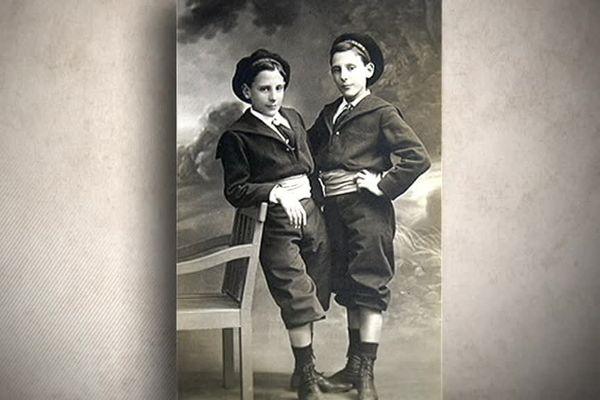 Portrait des frères Navarre dans leur enfance