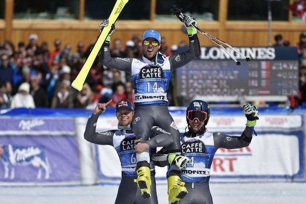 La France a réalisé le triplé dans le géant des finales de la Coupe du monde de ski alpin samedi à Saint-Moritz